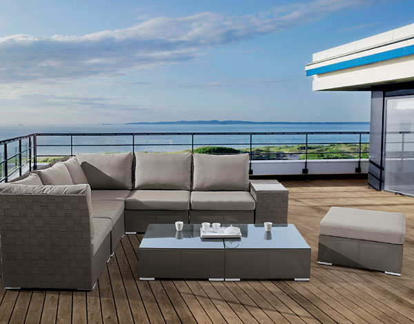 terrazza m bel mit edlem mesh gewebe der blickfang auf jeder terrasse. Black Bedroom Furniture Sets. Home Design Ideas