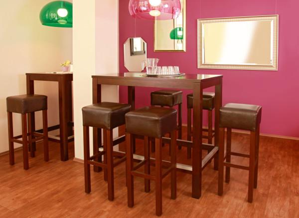 High dining inneneinrichtung mit berblick for Stehtisch barhocker kombination