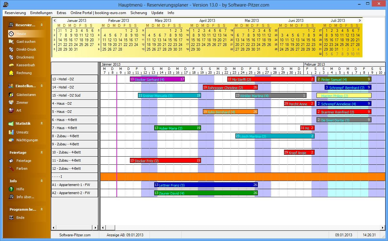 Zimmerbelegungsplan Erstellen Und Verwalten Mit Software Pitzer