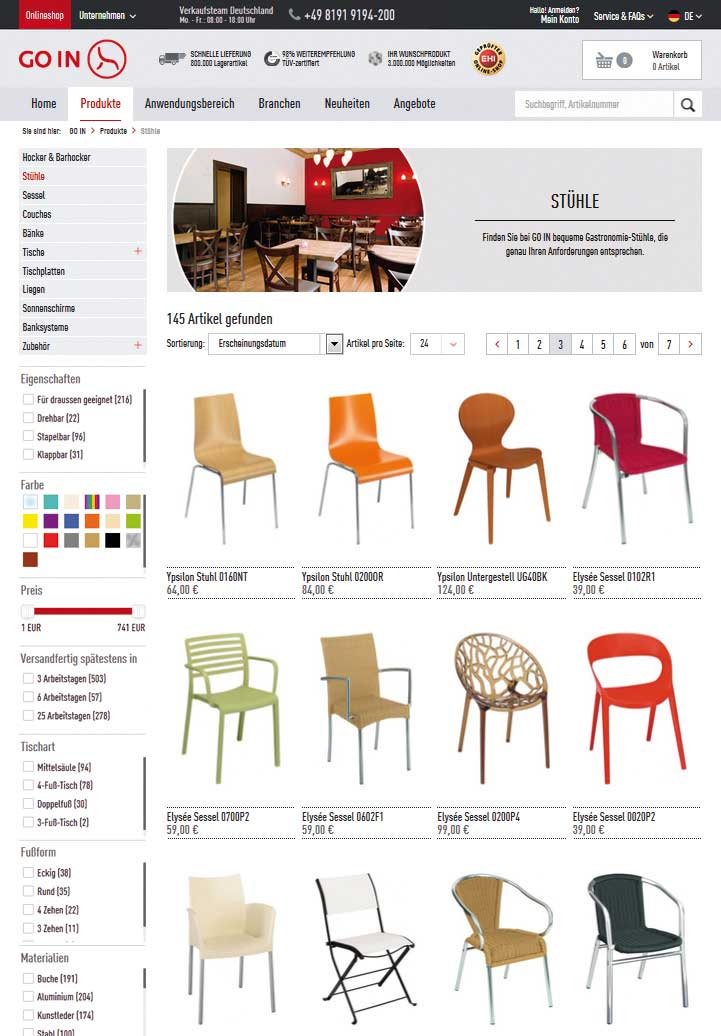 go in shop mit innovativem bedienkonzept. Black Bedroom Furniture Sets. Home Design Ideas