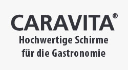 Hochwertige Gastro-Schirme von Caravita