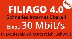 Überall schnelles Internet mit Filiago 4.0