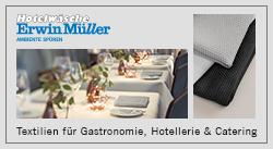 Textilien für Gastronomie, Hotellerie & Catering von Hotelwäsche Erwin Müller