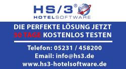 HS/3 Hotelsoftware - die perfekte Lösung jetzt 30 Tage kostenlos testen