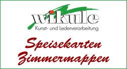 wikule Kunst- und Lederverarbeitung - Speisekarten und Zimmermappen