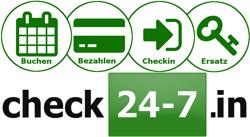 Check 24-7.in - Buchen, bezahlen, Checkin und Schlüsselersatz