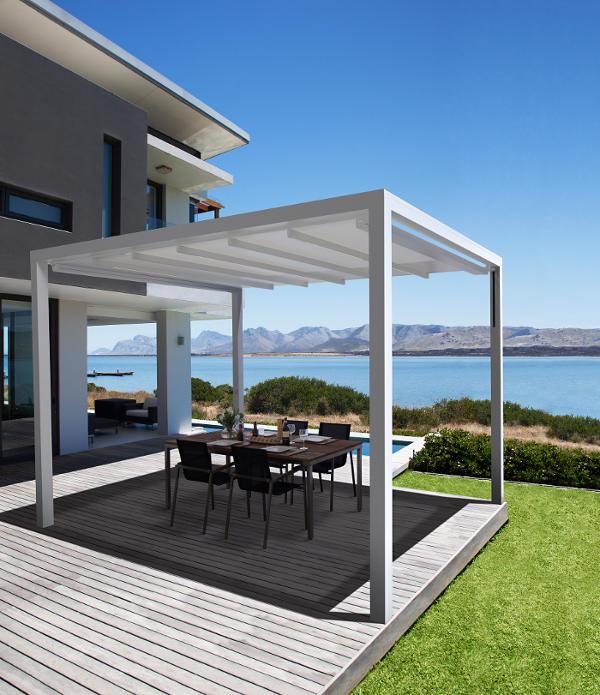 exklusive optik f r outdoor bereiche mit leiner markisen. Black Bedroom Furniture Sets. Home Design Ideas