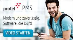 protel PMS - modern und zuverlässig. Software die läuft! Video starten!